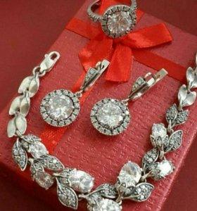 Кольца, серьги, браслеты, кулоны СЕРЕБРО 925