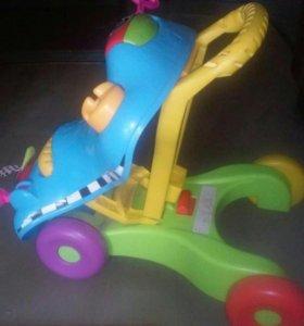 Машинка-каталка-ходунки