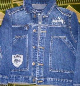 Детская джинсовая курта