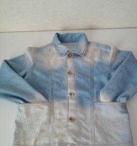 Джинсовый пиджак 6-7 л.