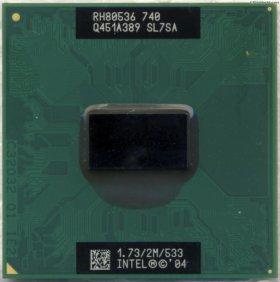 Процессор ноутбука Pentium M 740 M740 1,73G SL7SA