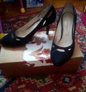 Туфли замшевые женские covani