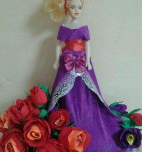 Куклы с конфетными цветами
