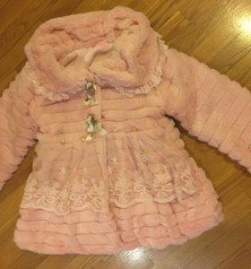 Пальто плюш для девочки