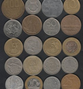 55 монет Мира без повторов