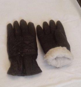 перчатки зимние мужские.