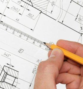 Чертежи от руки на заказ Инженерная графика