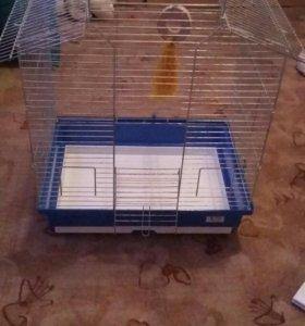 Клетка для попугая большая б/у
