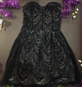 Чёрное платье гипюр оригинал
