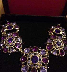 Серьги и ожерелье новые