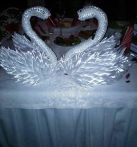 Лебеди на свадебное торжество.