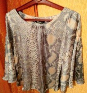 Блузка новая из мокрого шелка