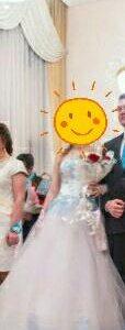 Продам свадебное платье,одето один раз.