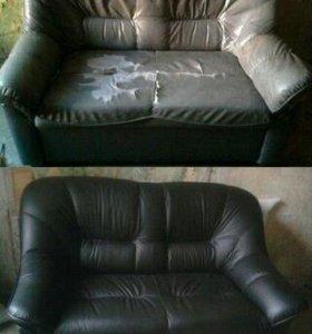 Перетяжка старой и изготовление новой мягкой мебел
