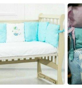 Подушки-бортики в детскую кроватку