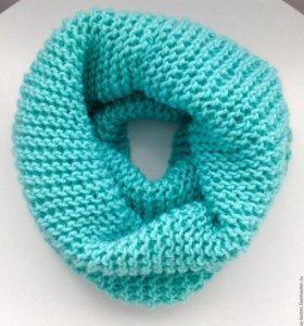 Снуд или шарф-хомут вязанный