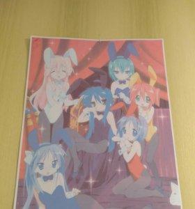 Аниме плакат Lucky star