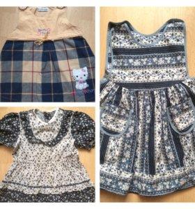 Платья и сарафаны на девочку 2-4 лет