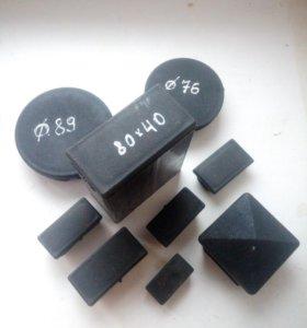 ПВХ пластиковые заглушки прямоугольного размера.