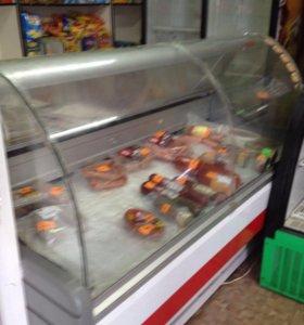 Витринный холодильник 1,5 м