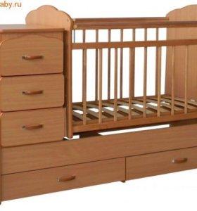 Детская кроватка маятник-трансформер