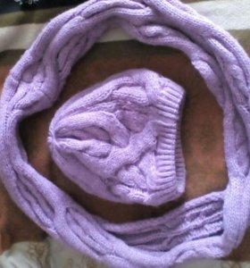 Комплект,шапка,шарф