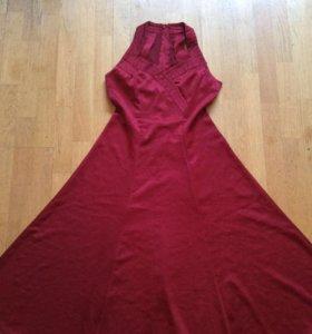 Платье бордовое р. 46