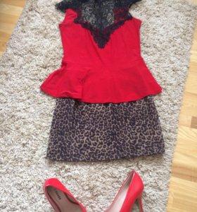 Блузка с баской(500 р)и мягкая юбка(300 р)
