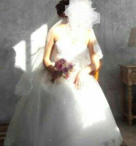 Свадебное платье р-р 44-50