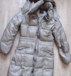 Пальто пуховик женское зимнее в о/с S