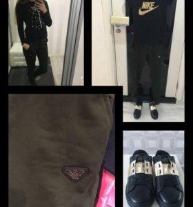 Спортивные штаны Armani (хаки,синие,чёрные)