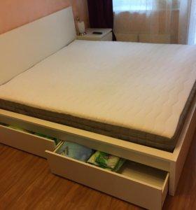 Кровать (каркас+матрас)