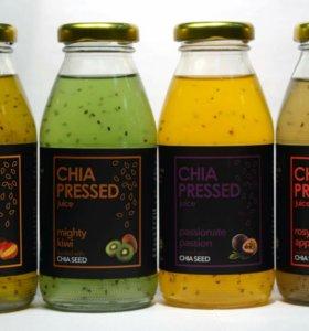 Напитки из тропических фруктов манго киви маракуя