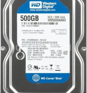 Жесткий диск wd5000aakx 500 гб