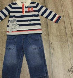 Новый комплект😎 джемпер+брюки (джинса)