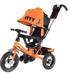 Велосипед оранжевый City новый