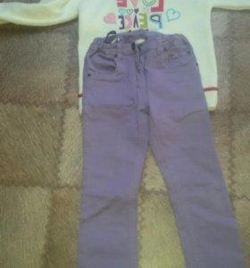 Свитер и джинсы на девочку