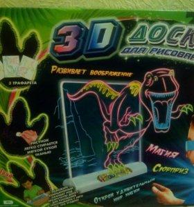 3D доска для рисования, динозавры