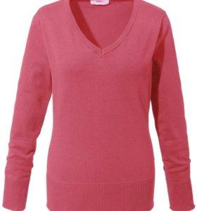 Пуловер Розовый хлопок Новый 54