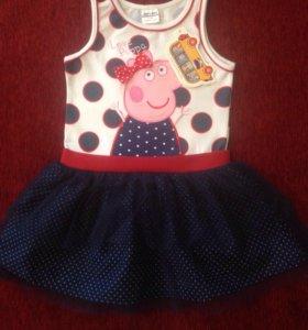 Новое платье на 3-5 лет