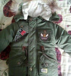 Куртка детская зимняя новая