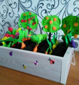 Огород из фетра для деток