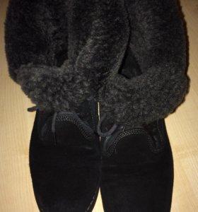 Ботинки зимние.Нат.замша,нат.мех