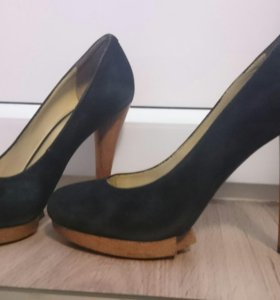Замшевые туфли Paolo Conte