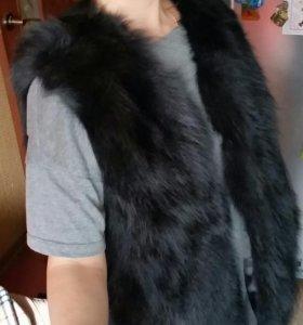 Жилет меховой натуральный (лиса)