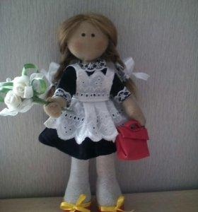 Кукла тильда первоклассница