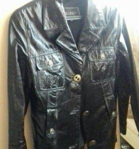 Куртка лак кожа м