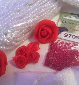 Бусы Розы бисер