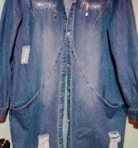 Новая джинсовая куртка-пальто женская