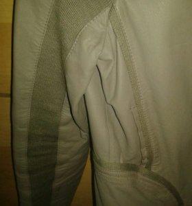 Кожанная куртка M